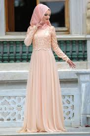 Neva Style Evening Dress Salmon Pink Hijab Dress