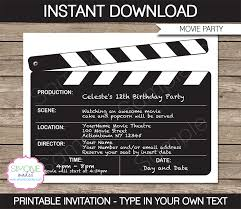 date night invitation template movie night party invitations template birthday party