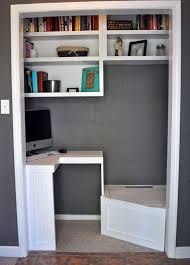 home office in a cupboard. Perfect Office Small Home Office In Closet With Shelving On Home Office In A Cupboard S