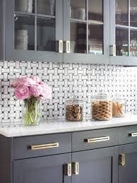 black cabinet pulls on gray cabinets. gray kitchen with modern gold brass cabinet hardware makeover : remodeling hgtv remodels black pulls on cabinets e
