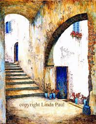 art print of italian architecture blue doors stairs and italian arches its perfect for italian home decor made in linda s colorado art studio on italian wall art prints with italian home decor italian art italy architecture prints
