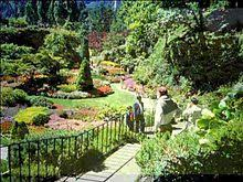 View of the sunken gardens at Butchart Gardens