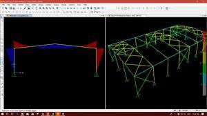 Interaction Ratio Steel Design Design Course On 3d Steel Portal Frame In Sap2000 Part6