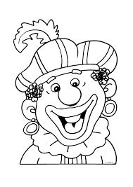 Zwarte Piet Blij Sint Kleurplaten Zwarte Piet Sinterklaas