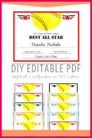 3 Softball Gift Certificate Templates 11346 Fabtemplatez