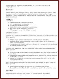Medical Billing And Coding Specialist Resume Sample Resume