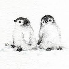 baby penguin drawing in pencil. Exellent Penguin Baby Penguins For Penguin Drawing In Pencil Pinterest