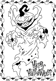Halloween ~ Scary Halloween Coloring Pages Complicated Astonishing ...