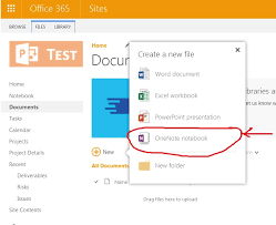 Onenote Templates 2013 Add Onenote To Document Library Templates Sharepoint