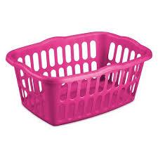 Pink Plastic Laundry Basket