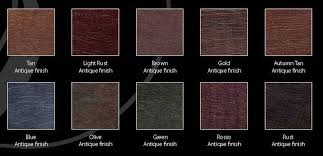 shelly 10 is made on corrected grain hides finished with a pigmented topcoat which is embossed with an artificial grain pattern this type of leather is
