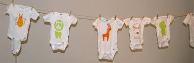 Baby Shower Ideas For Decorating Onesies