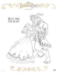 Free Disney Beauty And The Beast Coloring Sheets Beourguestevent