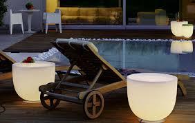 outdoor table lighting ideas. Modern Illuminated Patio Furniture Design Ideas | Outdoor Lighting Contemporary Table I