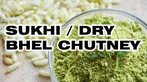 sukhi bhel chutney dry bhel chutney vegetarian and jain recipe