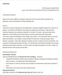 Private Music Teacher Resume
