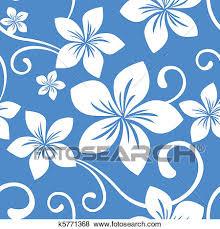 Hawaiian Pattern Extraordinary Clip Art Of Seamless Blue Hawaii Pattern K48 Search Clipart