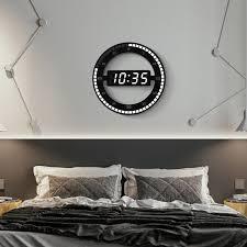 led digital wall clock modern