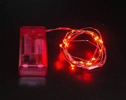 Battery Operated Red Led Lights Amazon Com Battery Operated Microdot Red Led Lights W