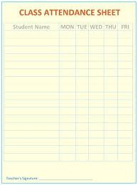 Class List Template Attendance Excel Free Printable Blank Literals