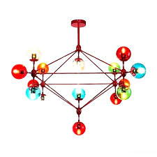 chandeliers large globe chandelier gypsy multi colored coloured color large globe chandelier