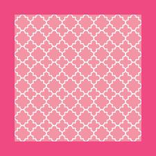 Arabic Pattern Classic Quatrefoil Arabic Pattern In Blush Pink