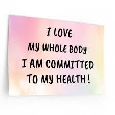 I Love My Body and My Health. Window and Mirror Decal