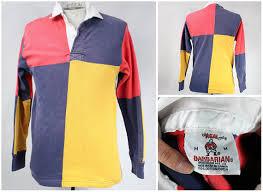 new men clothing finevintagecloset vintage colour block crewneck vintage rugby shirt s