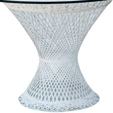 furniture winning round table wicker with glass top neuro furniture basket end dining set white