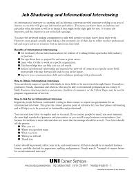 Informational Interview Request Email Job Shadowing And Informational Interviewing