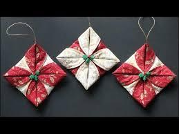 Folded Fabric Ornaments - YouTube & Folded Fabric Ornaments Adamdwight.com