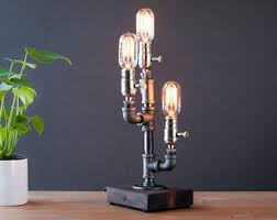 etsy industrial lighting. Steampunk Lamp/Industrial Lamp/Rustic Home Decor/Farmhouse Decor/Edison Pipe Lamp Etsy Industrial Lighting ?