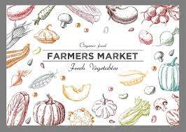 Label Design Templates Background With Vegetables Templates For Label Design With Hand