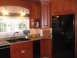 Mahogany Kitchen Cabinets Red