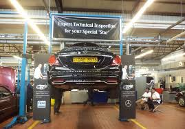daimler technical specialist in sri lanka carries out technical inspection on mercedes benz s cl limousines