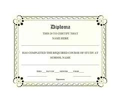 High School Diploma Sample Template Gulflifa Co