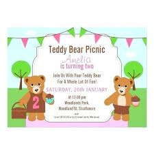 Picnic Invitation Template Also Girls Teddy Bear Picnic Birthday ...
