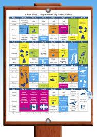 Summer Camp Weekly Schedule Bronte College