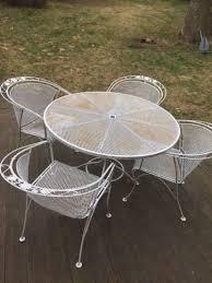 modern iron patio furniture. Fresh Ideas Woodard Wrought Iron Patio Furniture Vintage Mid Century Modern Set Table Arm Chairs H