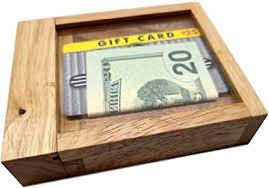 Can you cash out a gift card. Amazon Com Cash Out Wood Puzzle Can Hold Money And Gift Cards Toys Games