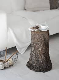 Coffee Table Tree Fall Decor How To Style A Tree Trunk At Home