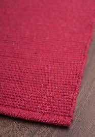 solid bright red flatweave eco cotton rug 1 290
