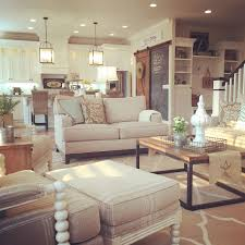 open floor plan kitchen living room dining room beautiful modern farmhouse living room open concept to kitchen interior