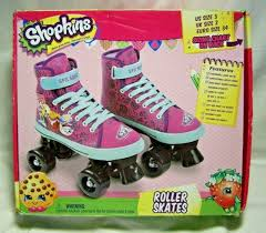 Girls Youth Shopkins Roller Skates Quad Wheels Pink Purple Size 3 New In Box