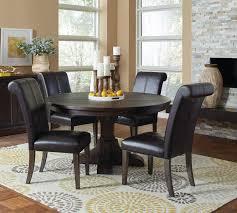 weber smokey black 5 piece round dining table set 107280 coaster furniture