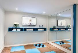 home gym storage ideas home contemporary with workout room video floating shelf o60 storage