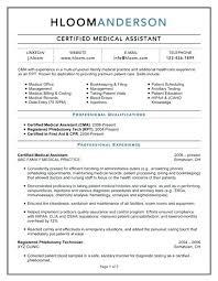 Sample Resume Medical Assistant Certified Medical Assistant Resume
