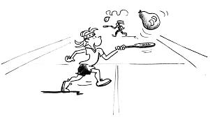 Giochi Di Rinvio Con Bambini Tennis Sentire La Palla In Aria