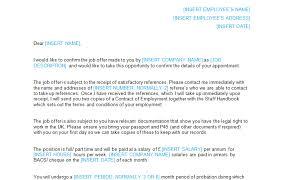 Job Offer Letter Template Word Job Offer Letter Template Bizorb
