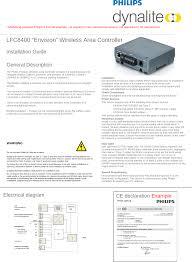 Philips Lighting Layout Tool Lfc8400 Wireless Area Controller User Manual Philips